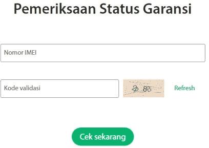 Pemeriksaan status Garansi